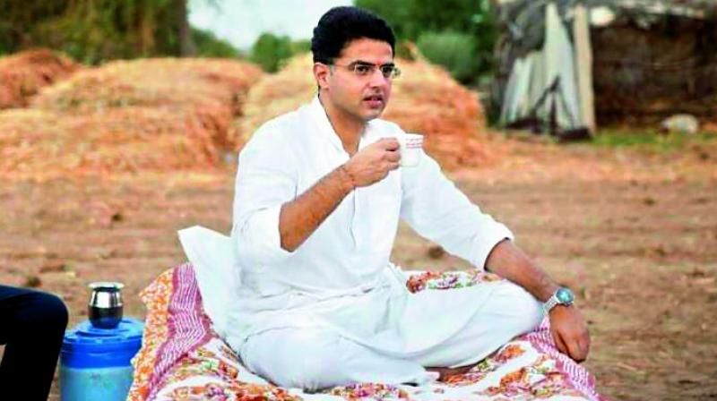 Sachin Pilot was seen connecting to people at the grassroots level during a field visit