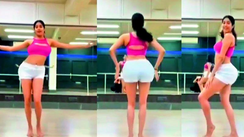 Actress Jhanvi Kapoor posted a belly-dancing video on Instagram on Sunday evening as part of the Dance Deewane challenge.