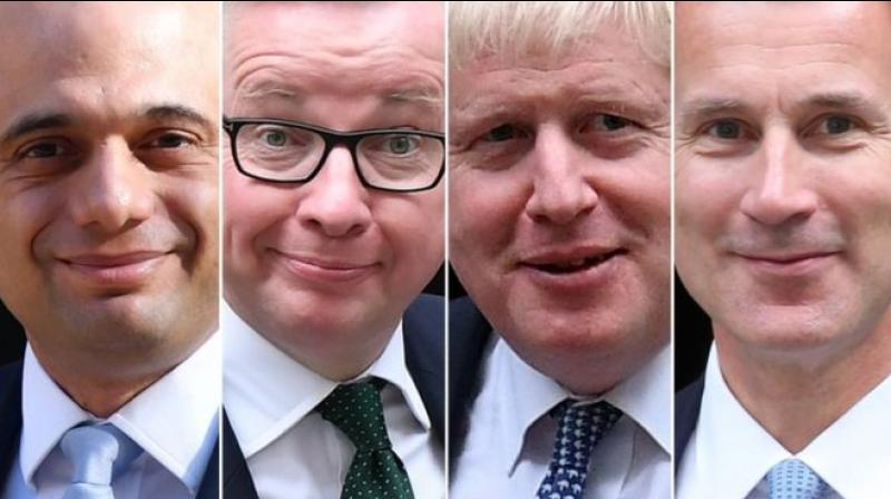 Conservative MPs will decide Thursday who will join Boris Johnson in the final two battling to become Britain's next prime minister, with three contenders jostling for the second spot. (Photo: AFP)