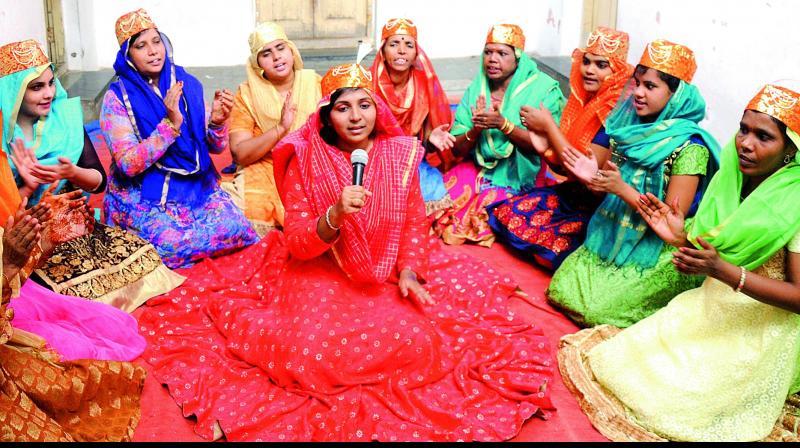 Members of the Shaheen qawwali group