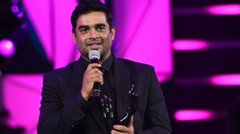 R. Madhavan after receiving his award.