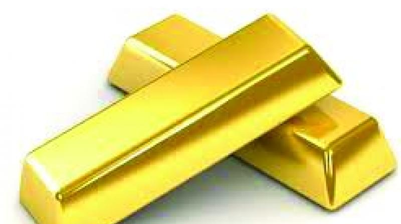 In the New York Comex trade, gold for December delivery dipped to USD 1,184.20 an ounce compared to last Friday's close of USD 1,219.