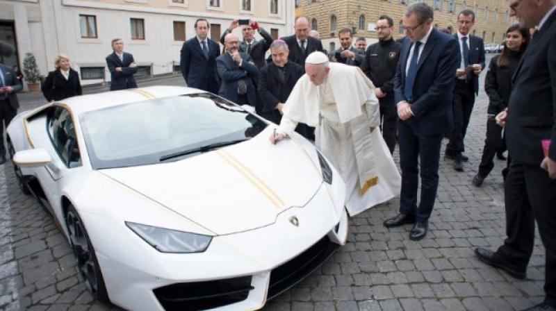 The special-edition sports car, which boasts a 610 metric horsepower, is expected to sell for significantly more than its Italian retail price of around €200,000. (Photo: AFP)