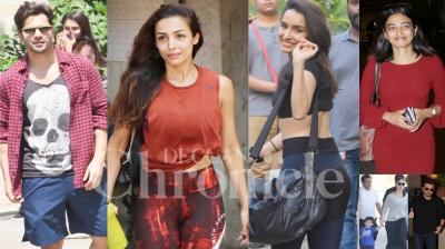 Bollywood celebrities like Varun Dhawan, Shraddha Kapoor, Malaika Arora, Radhika Apte, Kareena Kapoor Khan, Taimur and others were snapped in the city of dreams, Mumbai. (Photos: Viral Bhayani)