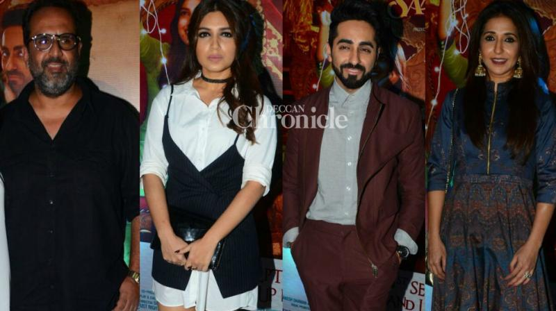 With the recenty released comedy-drama 'Shubh Mangal Saavdhan' minting more Rs. 30 crores at the box office, the team celebrated the success of their film in Mumbai on Tuesday. (Photo: Viral Bhayani)