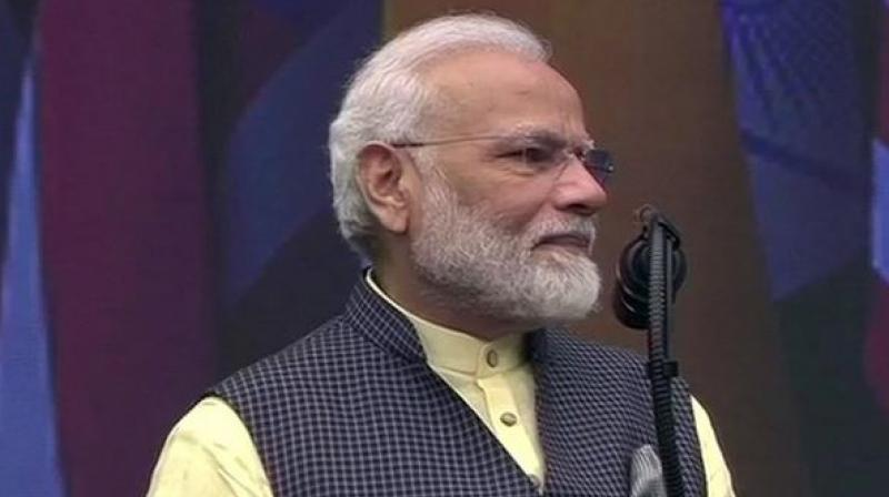 Prime Minister Narendra Modi: This event is called #HowdyModi, but I am no one, I am a common man working on the directions of 130 crore Indians. (Photo: ANI)