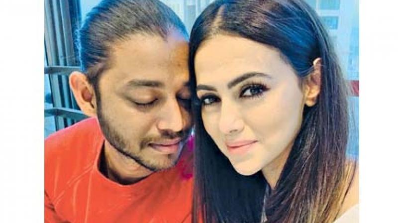 Sana Khan with Melvin Louis.