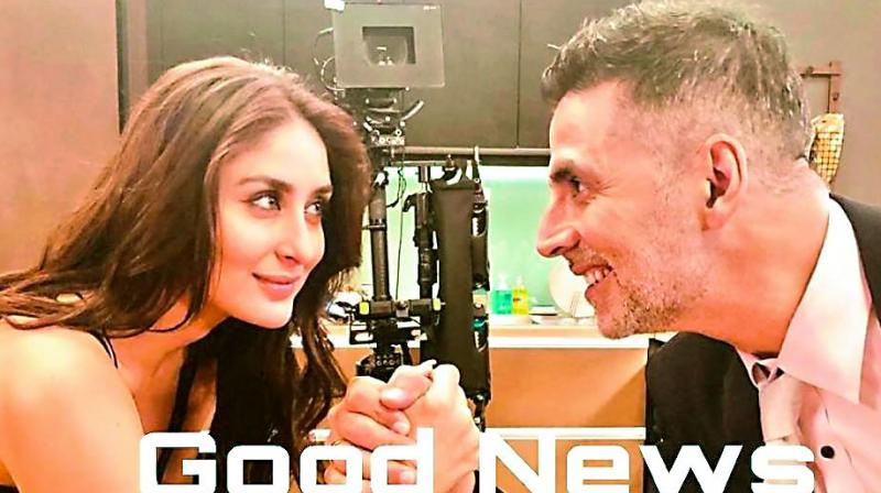 Akshay and Kareena have begun shooting for the film from this week and the actor took to Twiter to make an announcement