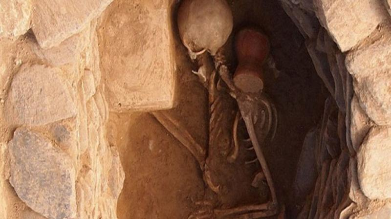"""The discovery of this unusual, so-called """"vampire burial"""" was made over the summer in the commune of Lugnano in Teverina in the Italian region of Umbria."""