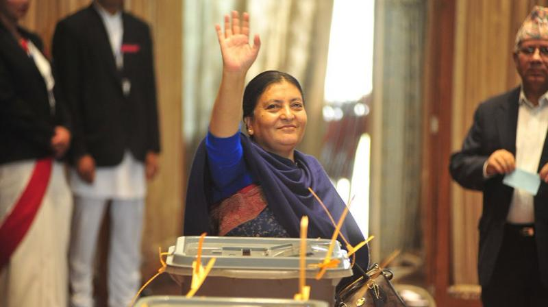 Home Ministry officials said the two days will be public holidays in Nepal to mark the departure and arrival of Bhandari after concluding her five-day visit to India. (Photo: Twitter)