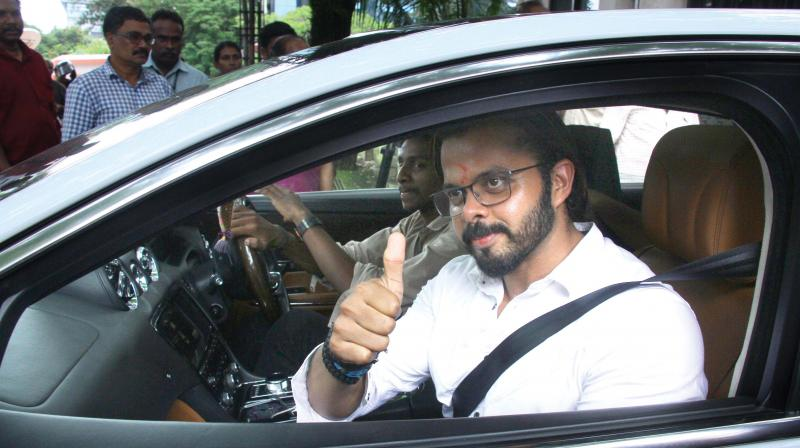 Cricketer S. Sreesanth leaves High Court after a verdict in his favour on Monday. (Photo: DC)