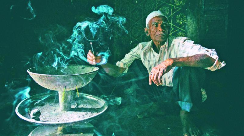 Caretaker at dargah in Bidar.