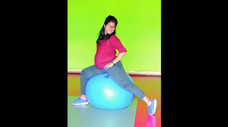 The Swiss Ball is an underrated gym tool, especially for pregnant women.