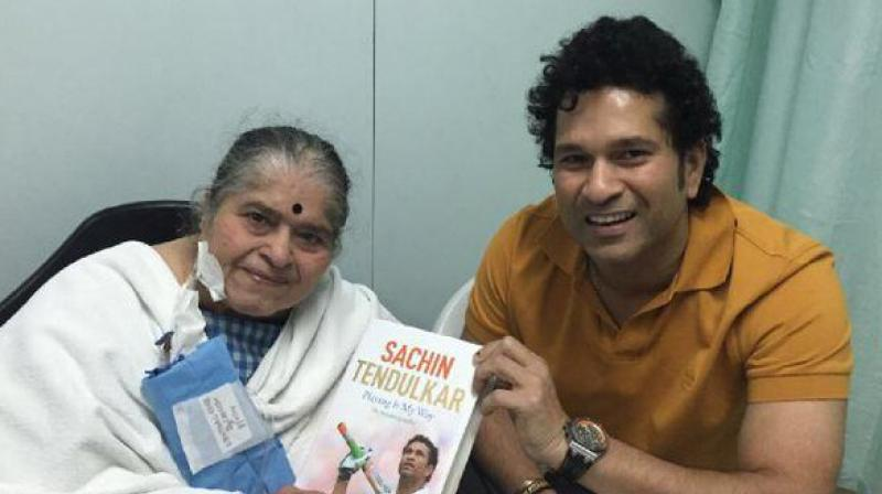 """My mother (Rajni) started it actually. I used to go play downstairs and to call me back home, mother would call 'Sachin Sachin',"" Sachin Tednulkar said when asked when did he first hear the 'Sachin Sachin' chant. (Photo: Sachin Tendulkar Twitter)"