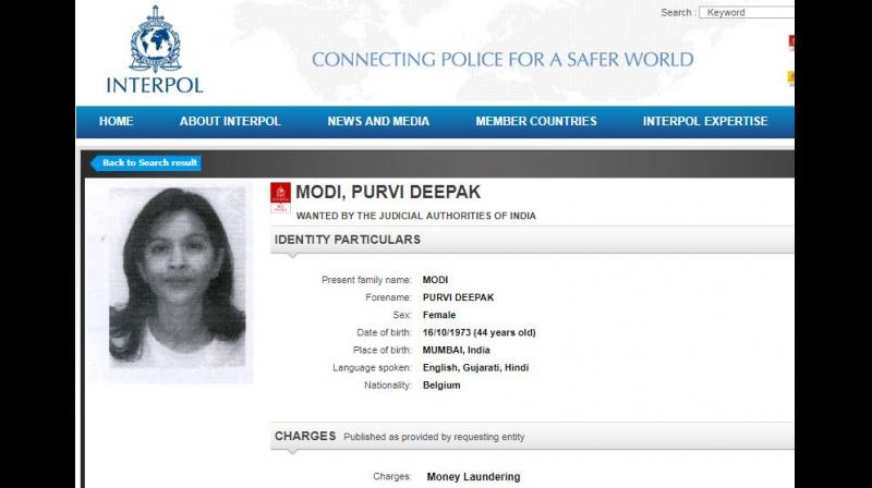 A similar Interpol notice was recently issued against Mihir R Bhansali, a top executive of Nirav Modi's US business concern, on charges of money laundering. (Photo: Screengrab | interpol.int)