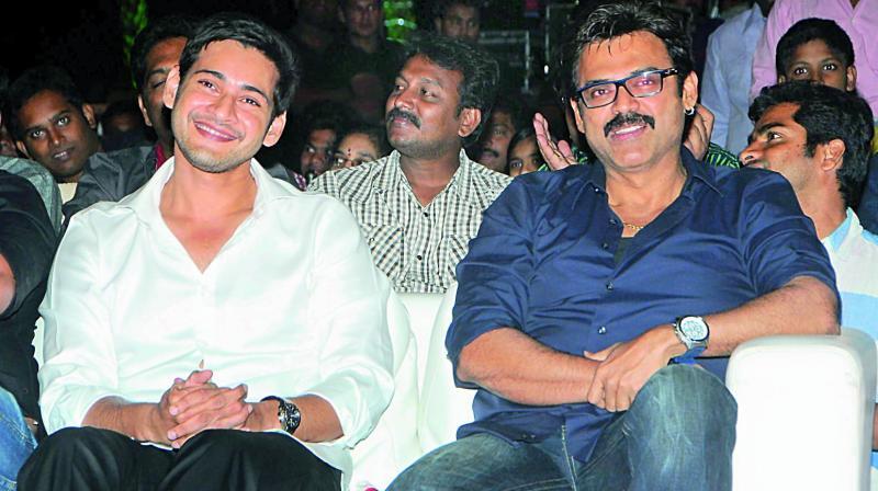 Mahesh Babu and Venkatesh
