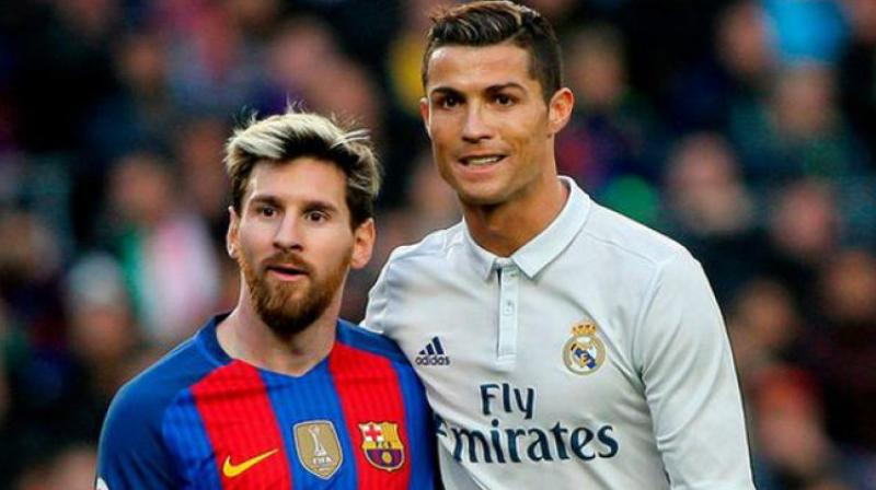 """I've played in England, Spain, Italy, Portugal and for my national team, while he's still in Spain,"" said Ronaldo while asked about Lionel Messi. (Photo: AFP)"