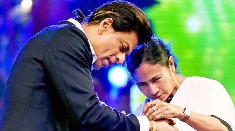 West Bengal Chief Minister Mamata Banerjee on Saturday wished Bollywood Superstar Shah Rukh Khan on his 54th birthday and said the state was proud to have him, as its brand ambassador. (Photo: Twitter/ Mamata Banerjee)