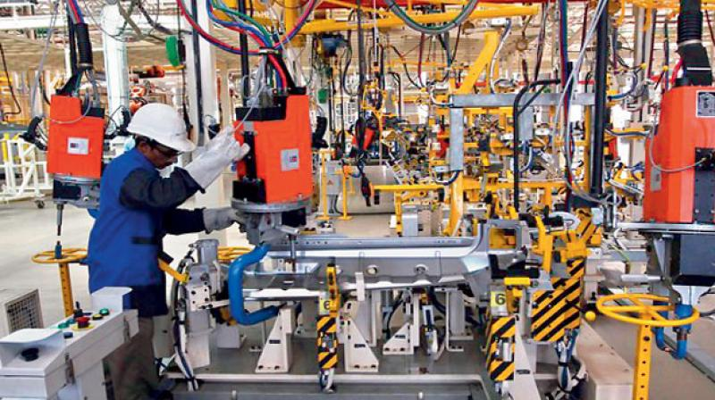 India's industrial output growth slowed to a five-month low of 4.4 percent in March. It had grown by over 7 per cent plus average, in the previous four months.
