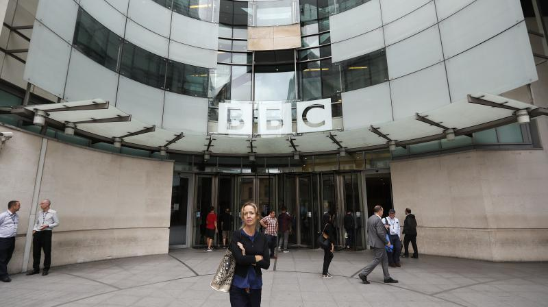 In picture: The main entrance to the headquarters of the BBC in London. (Photo: AP)