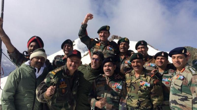 'The Kargil War is known for the determination, bravery, courage and daring mettle of the Indian Army troops who took to task the enemy intruders occupying strategic heights in Indian Territory,' the defence ministry said in a release. (Photo: ANI)