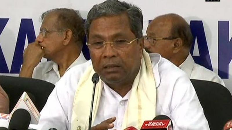 Earlier today, Siddaramaiah refuted claims about him being the reason behind the crisis. (Photo: ANI)