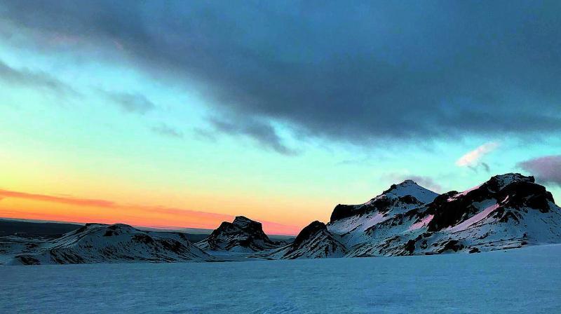 Langjökull glacier where Disco Raja was shot.