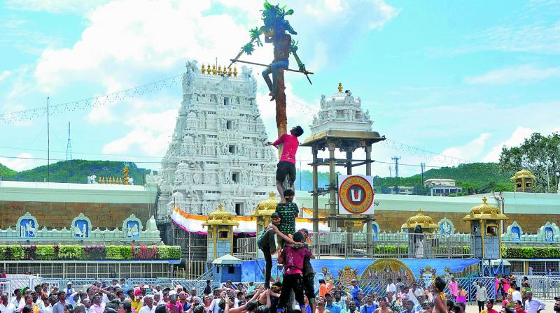 This festival of Utlotsavam is customarily observed on the succeeding day of Krishna Janmashtami every year in Tirumala where local youth take part in large numbers in this fun filled religious event.