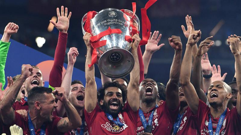 Divock Origi's late strike had wrapped up a 2-0 victory, Liverpool's sixth European Cup and for Salah, redemption. (Photo: AFP)