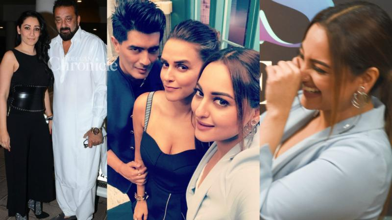 Fashion designer Manish Malhotra had a busy Thursday, first shooting for a TV show and following it up with a bash at his residence later in the day. (Photo: Viral Bhayani/ Twitter)