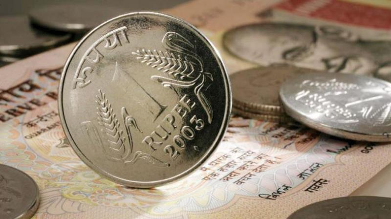 Rupee falls 26 paise against dollar