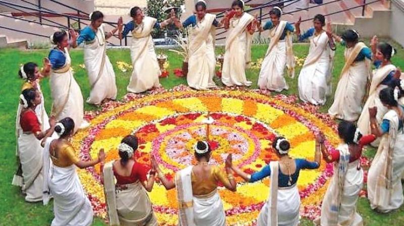 Prez, PM extend wishes on Onam; Keralites celebrate with lavish feast floral decks