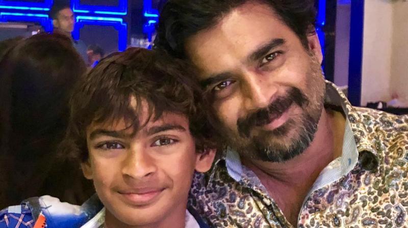 R Madhavan with his son Vedaant. (Photo: Instagram)