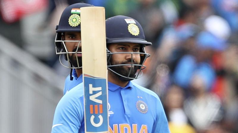 Sharma, who made 122 in India's opening win over South Africa and 57 against Australia, went to fifty in just 34 balls against Pakistan. (Photo: AP)