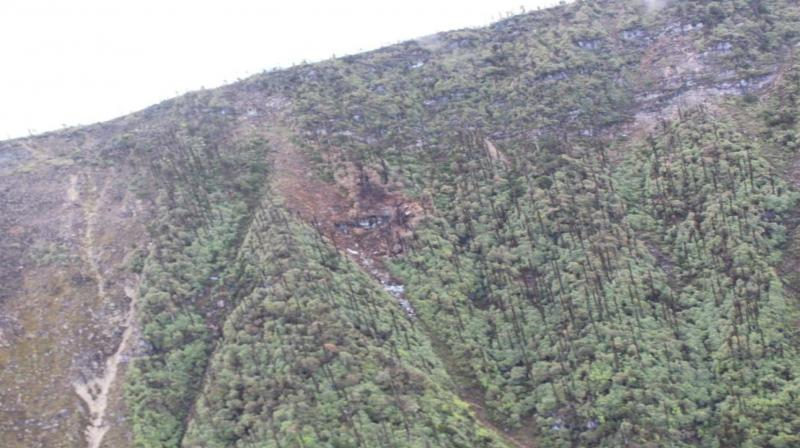 Earlier on Wednesday, the Indian Air Force, Army and the civil administration of Arunachal Pradesh started a massive operation to reach the crash site. (Photo: ANI)