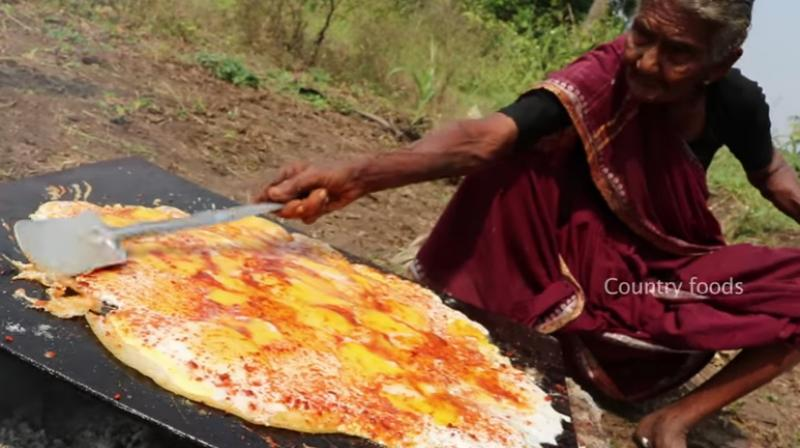 Video andhra pradeshs 106 year old cooking sensation is worlds the videos are shot in her village by her grandson and have over 248000 forumfinder Images