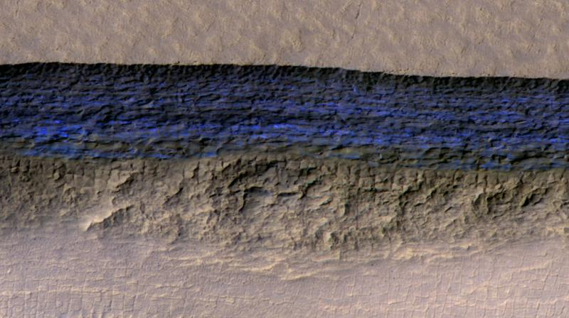 Sheets of ice found on Mars