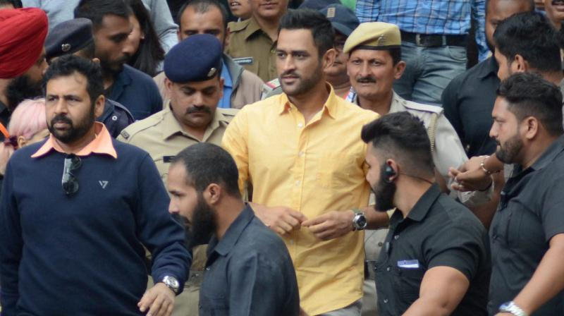 Thakur confirmed that Dhoni was made state guest so that the police could aide his personal security and that no additional expenses were borne on the 37-year-old. (Photo: PTI)