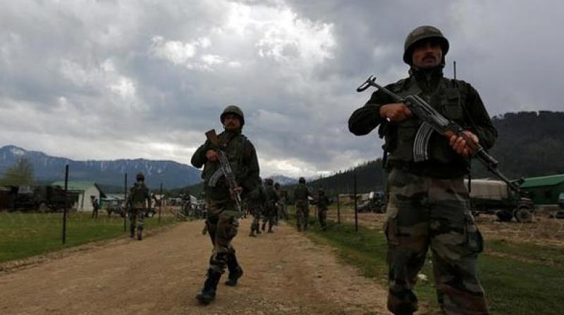 Security forces on Sunday gunned down five terrorists and seized a big cache of arms and ammunition from them following an encounter in Kulgam district of Jammu and Kashmir.(Representative Image)