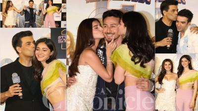On Friday, Tiger Shroff unveiled the trailer of his upcoming 'Student Of The Year 2' with newcomers Tara Sutaria and Ananya Panday. The atcor had a lot of fun on stage with the newbies and Karan Johar. (Photos: Viral Bhayani)