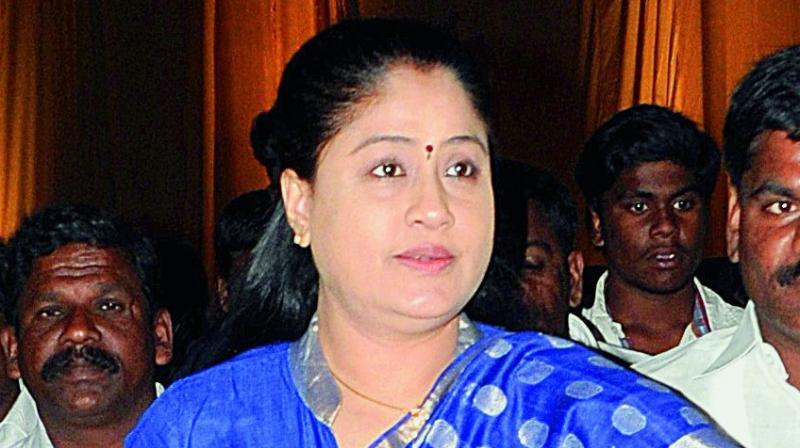 Former MP and actress Vijayashanti