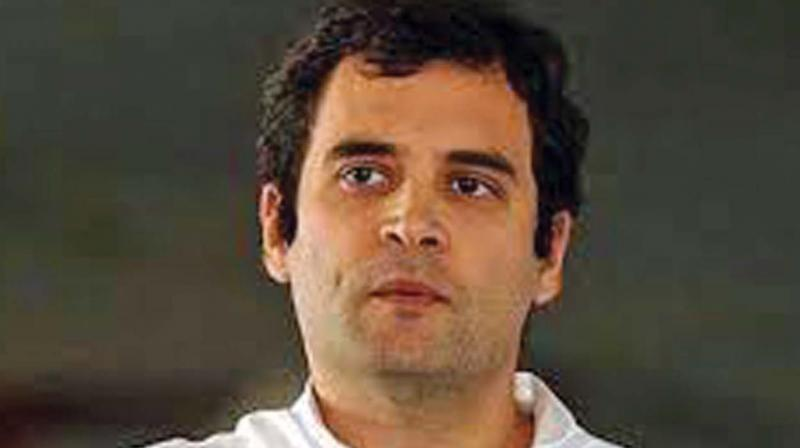 Congress President Rahul Gandhi on Tuesday hit out at the government for making 'empty slogans'. (Photo: File/ANI)
