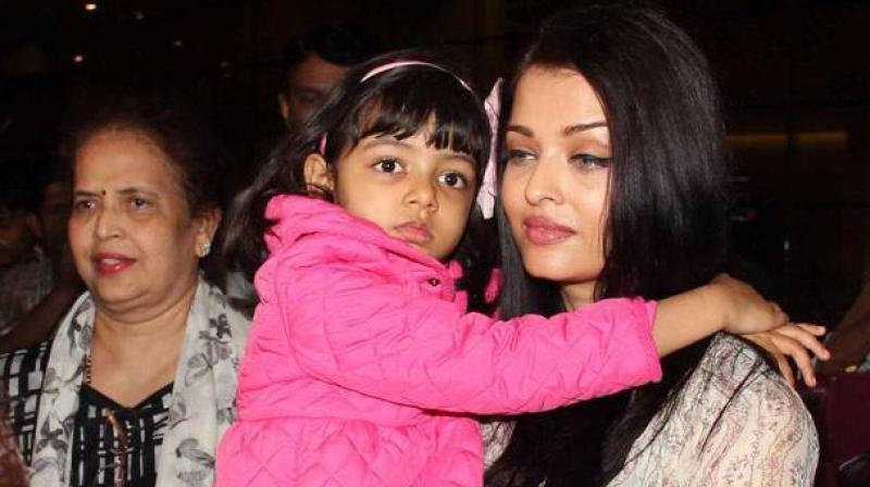 Aishwarya Rai Bachchan, daughter Aaradhya and mother Brinda