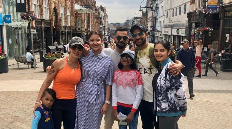 During the ongoing UK ongoing tour, Virat Kohli and team were made to part ways with their loved ones before the start of the practice game against Essex. (Photo: Twitter)