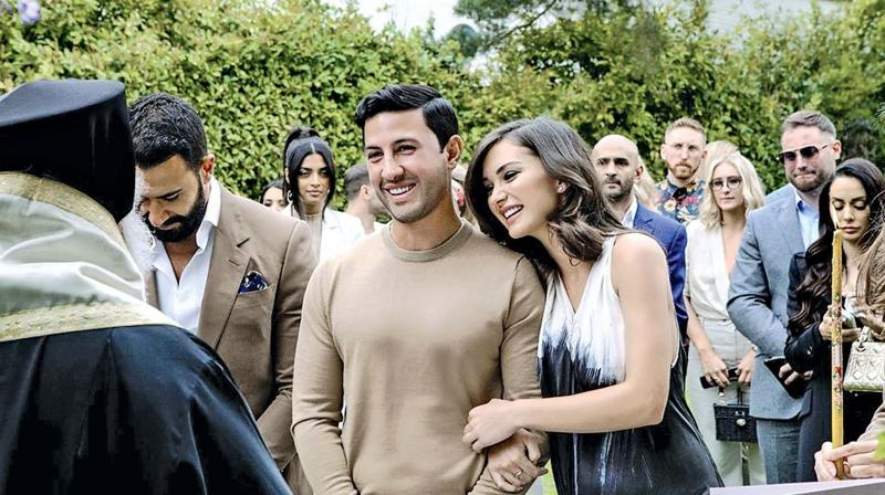 Amy Jackson during her engagement bash