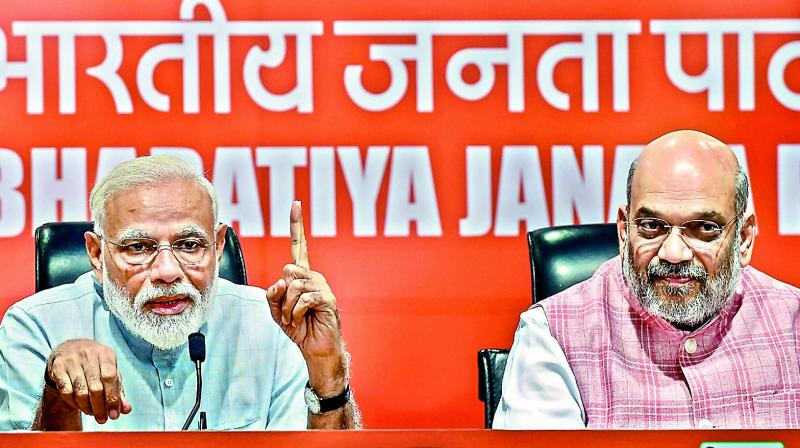 It was the first result to be declared from Gujarat, as the BJP looked set to win all 26 Lok Sabha seats in the state. (Photo: PTI)