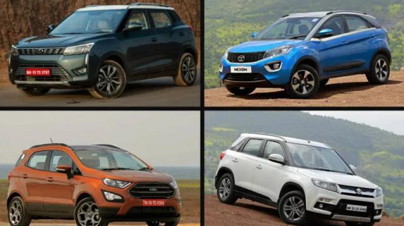 The soon to be launched Mahindra XUV300 is the widest in this comparison, while being the exact same length as the Maruti Vitara Brezza.