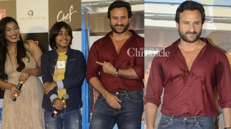 Saif Ali Khan and the team of 'Chef' launched the trailer of their film at an event in Mumbai on Thursday. The film is Saif's second release of the year after Vishal Bhardwaj's 'Rangoon'. (Photo: Viral Bhayani)