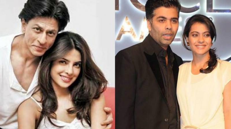 Shah Rukh Khan and Priyanka Chopra, Karan Johar and Kajol.