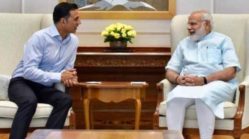 Akshay Kumar and PM Narendra Modi.